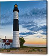 Big Sable Point Lighthouse Sunset Canvas Print