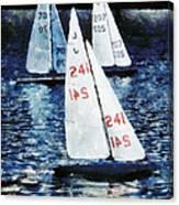 Big Sailors And Little Boats Canvas Print