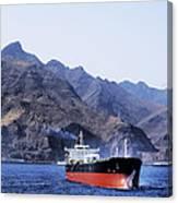 Big Ship Non Atlantic Ocean Canvas Print