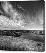 Big Sky Country In Black And White Canvas Print