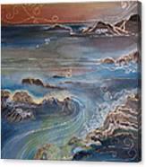 Big Sur In Sunset Canvas Print