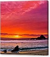 Big Sur Sunset Pfeiffer Beach Canvas Print