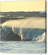 Big Surf At Sunset Canvas Print