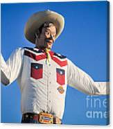 Big Tex - State Fair Of Texas - No. 2 By D. Perry Lawrence Canvas Print