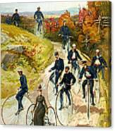 Big Wheel Bicycles Canvas Print