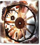 Big Wheel Wall Canvas Print