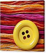 Big Yellow Button  Canvas Print
