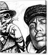 Biggie Smalls art drawing poster Canvas Print