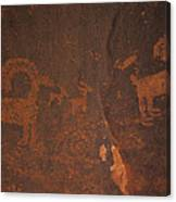 Bighorn Sheep Petroglyph Zion National Park Canvas Print