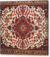 Bijar Red And Khaki Silk Carpet Persian Art Canvas Print