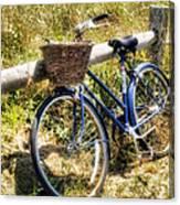Bike At Nantucket Beach Canvas Print