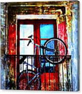 Bike In The Balcony Canvas Print
