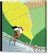 Bike Messenger Racing Towards Bikers Racing Canvas Print