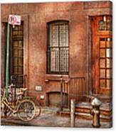 Bike - Ny - Urban - Two Complete Bikes Canvas Print