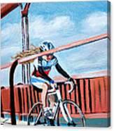Bike On The Golden Gate Bridge Canvas Print