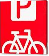 Bike Parking Canvas Print