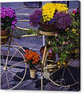 Bike Planter Canvas Print