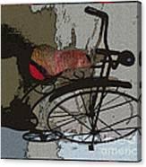 Bike Seat View Canvas Print