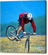 Bike Stunt Canvas Print