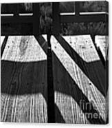 Bike Trail Bridge Bw Canvas Print