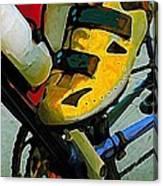 Biker Boy Foot Canvas Print