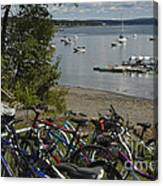Bikes And Boats Canvas Print