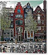 Bikes Everywhere In Amsterdam-netherlands Canvas Print