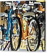 Bikes Hanging Around Canvas Print