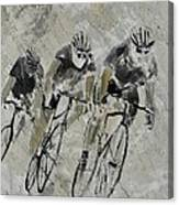 Bikes In The Rain Canvas Print