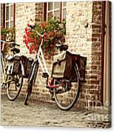 Bikes In The School Yard Canvas Print