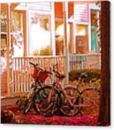 Bikes In The Yard Canvas Print