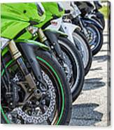 Bikes Lined Canvas Print