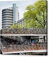 Bikes Parking In Amsterdam Canvas Print