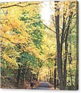 Biking In Bucks County Canvas Print