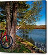 Biking To Horseshoe Lake Canvas Print