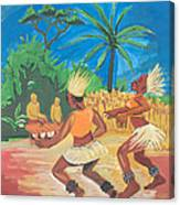 Bikutsi Dance 2 From Cameroon Canvas Print
