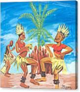 Bikutsi Dance 3 From Cameroon Canvas Print