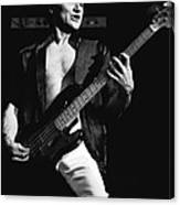 Bill Church On The Bass Canvas Print