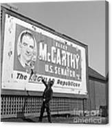 Billboard For Senator Joe Mccarthy 1948 Canvas Print