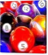 Billiard Balls On The Table Canvas Print