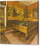 Billiard Room At Menil-hubert Canvas Print