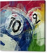 Billiards 10 And 9 Canvas Print