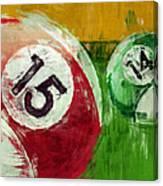Billiards Abstract 15 14 Canvas Print