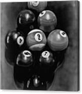Billiards Art - Your Break - Bw  Canvas Print