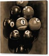 Billiards Art - Your Break - Bw Opal Canvas Print