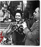 Billie Holiday Louis Armstrong Barney Bigard  New Orleans Set 1947-2010  Canvas Print