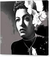 Billie Holiday Singer Song Writer No Date-2014 Canvas Print