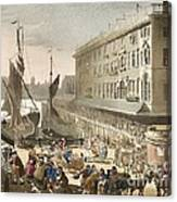 Billingsgate Fish Market, 1808 Canvas Print