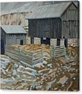 Bill's Barns Canvas Print