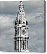 Billy Penn In The Clouds Canvas Print